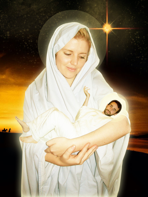 ohhimark:  Holiday Card 2009: GLORY TO THE NEWBORN KING  One of the most important things to come into my life in history.