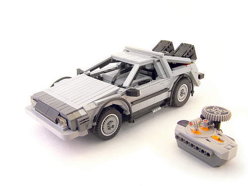 LEGO RC Delorean time machine (via Legohaulic)