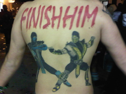 azizisbored:  Ladies and gentlemen, the best Mortal Kombat back tattoo I've ever seen.