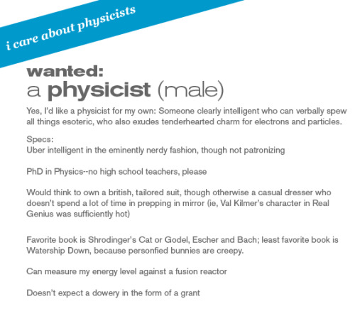 Wanted: A physicist