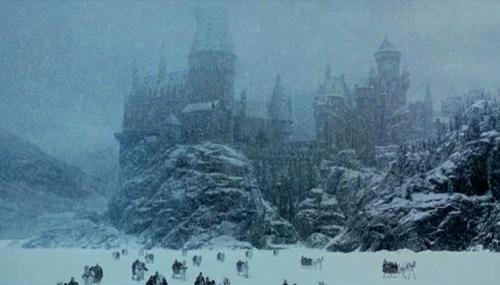 Even snow is better at Hogwarts