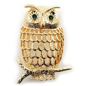 Filigree Owl Brooch.  A vintage inspired brooch that has a little bit of hipster and a little bit of class.  This Owl Brooch ($11) is the right price too, great unique accessory.