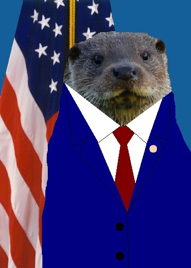 "The Otter Blog is about to drop some civic knowledge on your ass.  This is Clement Leroy Otter.  What is a Clement Leroy, and why is that funny you ask?  Well, Clement and Leroy are the first and middle names of the Governor of Idaho and his last name is Otter.  His nickname is ""Butch,"" so people call him Butch Otter.  Seriously, for realz.  Idaho's Governor is Butch Otter.  This makes Butch Otter the highest-ranking otter in the United States.  And, if like me, you find this amusing, then you will love his Wikipedia page.  According to the section titled, ""Otter on the Issues,"" he hates taxes, civil liberties, unions, aborting stuff, immigrants, gay marriages, and gray wolves.  His stance on killing gray wolves is understandable, but the rest of it seems too conservative for an otter.  As you likely know, otters are considered some of the most socially liberal members of the animal kingdom.  Anyway, I hope this Otter guy runs for president.  I think a Butch Otter is exactly what this country needs, and it will provide me months of lulz. Original otter via"