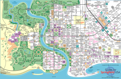 Cartophilia: Simpsons 20th Anniversary Jerry Lerma and Terry Hogan mapped Springfield (interactive version here)