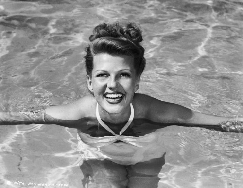 silvercinema:  darling-eliza22:  Rita Hayworth Rita was a princess before Grace but all you ever hear about is Grace.  I think MGM only made it a big deal because they had a movie of hers coming out sadly it wasn't that great.    Hellz yea! Of course, the reason people might make such a big deal about Gracie is because she stayed a princess throughout her life. Much as Rita loved Aly, they didn't work out and she moved on to crazy eyed Dick Haymes, which was a *coughcough* bad choice. And MGM wasn't making a big deal about it, they just had to make some sort of deal since she wasn't going to be a contract player. Maybe Rita might have prefered that instead of Harry Cohn being a jerk about her leaving Colombia to marry Aly Khan.