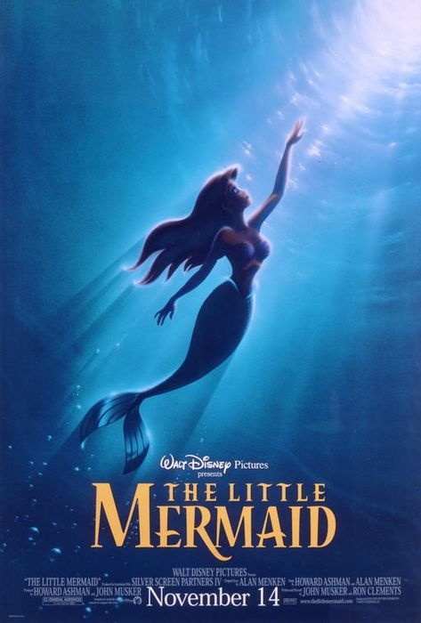 movieoftheday:  The Little Mermaid, 1989. Starring Jodi Benson, Christopher Daniel Barnes, Kenneth Mars, Pat Carroll, Samuel E. Wright. (Director: Ron Clements, John Musker)—————————————————————————Plot: Winner of two Oscars for Best Score and Best Song, this colorful adventure tells the story of an impetuous mermaid princess named Ariel (Benson) who falls in love with the very human Prince Eric (Barnes) and puts everything on the line for the chance to be with him. Memorable songs and characters — including the villainous sea witch Ursula (Carroll) — helped make this an instant Disney classic.
