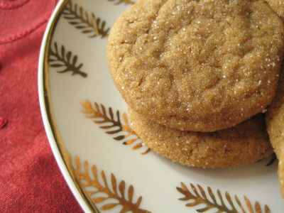 "Favorite Christmas Cookie  My ""go to"" Christmas Cookie is the Lemon Ginger Cookie.  It has all of the qualities you look for in a cookie;  soft on the inside, little crust on the outside, great flavor, petite size (so you can have more than one), and quick and easy to make.  These make the perfect holiday gift to friends and family!  Here's the recipe.  Try them, you won't regret it!:  Lemon Ginger Cookies 2 1/2 cups flour 2 tsp baking soda 1 tsp kosher salt 3 tsp ground ginger 1 tsp ground cinnamon 1/4 cup granulated sugar (for rolling cookies) 3/4 cup butter (1 1/2 sticks) 1 cup dark brown sugar 1 egg 1/4 cup molasses 1 Tbsp lemon rind  Preheat oven to 350 degrees. Sift together flour, baking soda, salt, ginger and cinnamon and set aside. With an electric mixer beat butter with brown sugar and egg until light and fluffy. Beat in molasses and lemon rind until well blended. Stir in dry ingredients, half at a time, blending well after each addition.  Roll dough, one level tablespoon at a time, between palms of hands into balls; roll in granulated sugar. Place 2 inches a part on ungreased cookie sheets. Bake in preheated oven for 10 minutes. Do not overbake! Cookies will be soft in the center. Cool completely on wire racks.  Enjoy!"