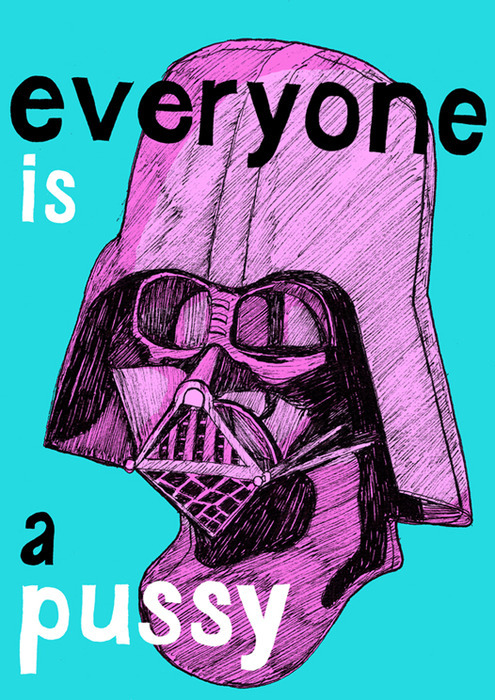 and ya know whats funny?  It's a pink vader telling you that you suck… the irony.