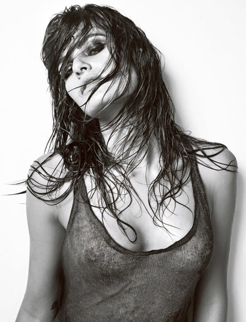 Isabeli Fontana Shot by Jacques Dequeker for the December 2009 issue of Vogue Homme Brazil