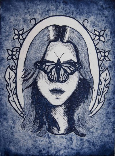 eatsleepdraw:  etching. feel free to follow me :] whenpaintflies.tumblr.com  Love this. Love the strokes and textures. Wish that I can draw. Hmm I wonder how to do this? What medium is used and etc.