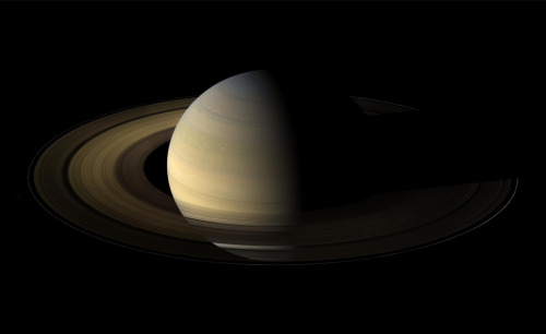 From 20 degrees above the ring plane, Cassini's wide angle camera shot 75 exposures in succession for this mosaic showing Saturn, its rings, and a few of its moons a day and a half after exact Saturn equinox, when the sun's disk was exactly overhead at the planet's equator. The images were taken on Aug. 12, 2009, at a distance of approximately 847,000 km (526,000 mi) from Saturn. (NASA/JPL/Space Science Institute) # 2009 in photos (part 2 of 3) - The Big Picture - Boston.com