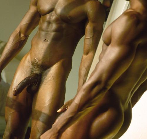 Black guys naked mirror selfie