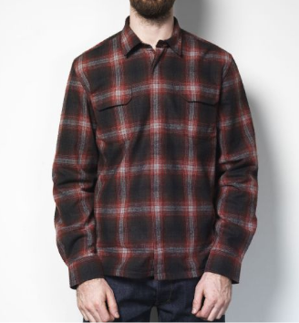 Dunderdon Wool Lined Plaid Shirt Jacket