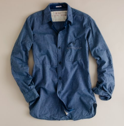 J Crew x Mister Freedom Chambray Shirt