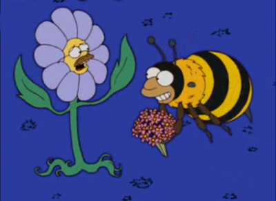 """I don't want flowers, I am a flower!"" - S17E04, 'Treehouse of Horror XVI'"