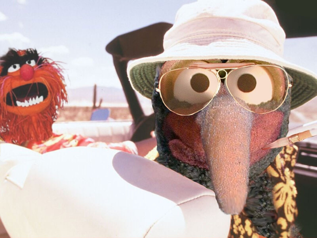 Amazing. peckinpah:  The Muppets' Fear and Loathing in Las Vegas.