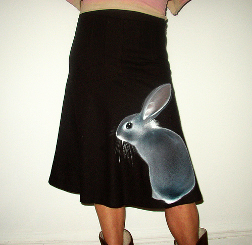 Handmade Rabbit Clothing by NYIllustration via Flickr.