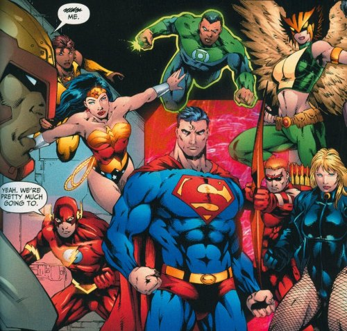 The Justice League …are pretty much going to fuck Hardware.…….Wait, what?Man, sometimes I really don't get superhero comics…