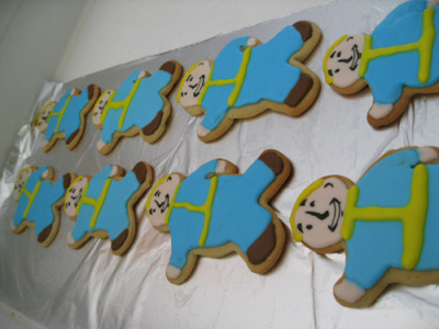 Fallout 3 Vault Boy Sugar Cookies