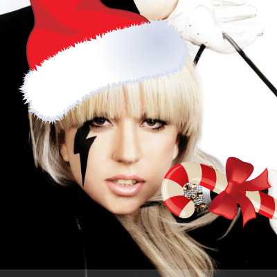fuckyeahladygaga:  christmas themed gaga  Merry Christmas to you all. Enjoy the Christmas themed Gaga!