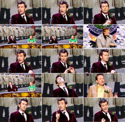notulysses:  David Tennant: I'll tell you what annoys me. If it's 'Five items or fewer', then it's 'five items or fewer' — don't come in with six and stand in front of me.Lee Mack: Yeah but that's confusing 'cause sometimes you get—Stephen Fry: Do you count 'em in the bag? Do you look in the basket?David Tennant: Yeah! You bet I do! Yeah, and then say absolutely nothing about it.Lee Mack: But what if it's three for two?David Tennant: Yeah, see… I would give one of those items off.Lee Mack: So you'll get me two?David Tennant: I'll give you… Two for those three. But if there's not a special offer on — and I'm checking.Lee Mack: You're Scottish, I know you're chekin' for those special offers. QI (Gx05: Groovy) On cutting cues.
