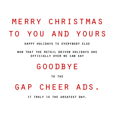 so long gap cheer ads and merry christmas to all.  incidentally, the winner of the giveaway will be announced soon and more posts to come.
