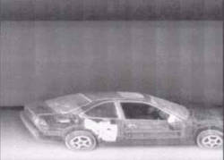 X-ray of car with cash stashed in secret compartment