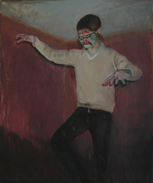 tinei:  Piano player. 2009. 120 x 100 cm. Oil on canvas