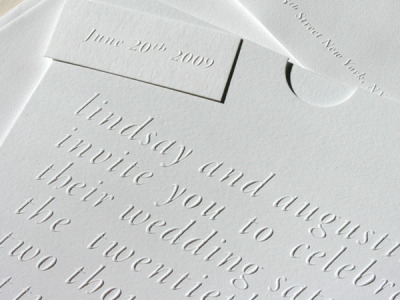 studio on fire - blind embossing wedding invitation