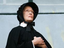 "So, I watched Doubt this afternoon, and on proclaiming it 'amazing' on Twitter, my friend Sam replied immediately with ""Is it wrong that I really wanted to do Streep while I was watching that film?""  Yes Sam, it is quite wrong.  Although she is amazing, as is future hubby PSH.   It's interesting because I'm reading a John Updike book at the mo that deals with faith through the generations of a family, In The Beauty Of The Lilies.  (Title's a bit shit, I know.)  The first dude was a pastor who went on to be a salesman when he lost his faith suddenly one day.  So far I'm about halfway through, and it's (typically, for Updike) quite brilliantly written.  Doesn't have the same take-your-breath-away sentences that Cormac McCarthy or Ali Smith do, but he writes real characters that you simply do not want to leave.  You want them to stay in your lives so you can get to know them or help them out or tell them they're idiots or whatever.  I think I'll read it aloud to Phillip Seymour Hoffman when we're married."
