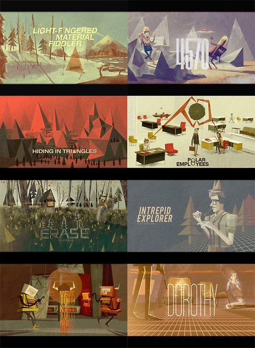 movie title screens by Matthew Lyons [flickr] [blog]  [yayeveryday] fantastic illustrations and typography— Kevin Dart meets Chris Turnham meets Shag meets ISO50 meets Mark Weaver // brandonnn