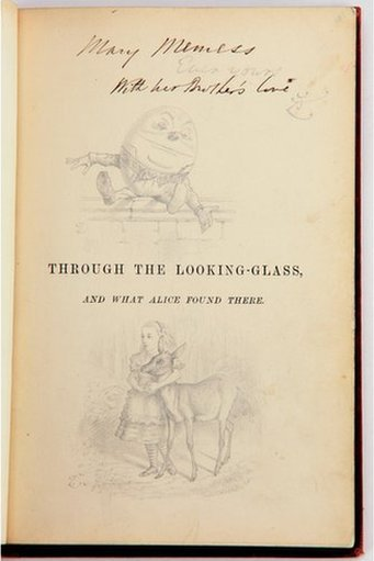 A rare edition of Alice in Wonderland by Lewis Carroll, given to the real Alice.  The copy belonged to 10-year-old Alice Liddell, the Oxford don's inspiration for Alice.  Article here.  Additional images at the click-through link.