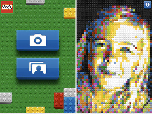 nickmcglynn:  Official iPhone Lego App Converts Reality Into a Brick Mosaic