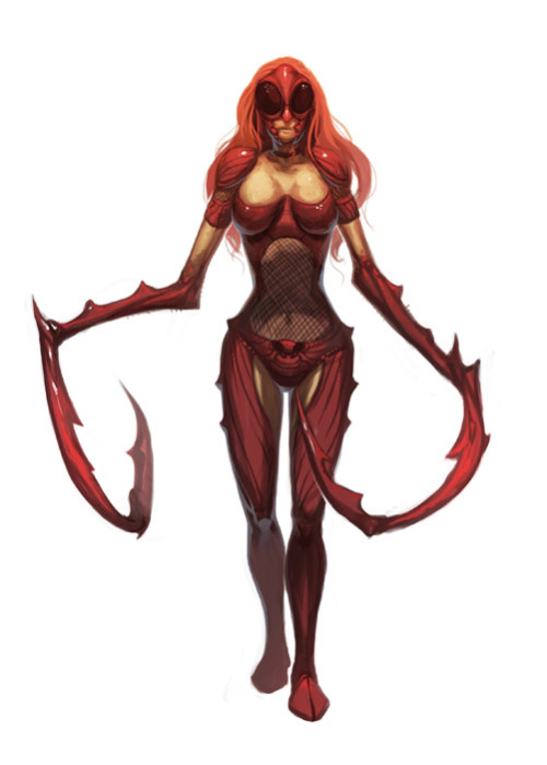 Red Mantis Leader  via nJoo (deviantART)