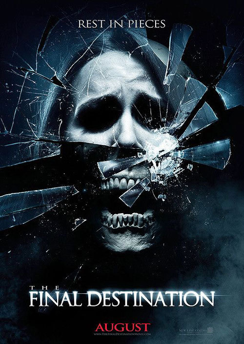 "Final Destination is a tricky series of films. While the idea of being able to see and prevent the deaths of those around you has always been something that fascinated me, the first two film's execution of these deaths in creative and unstoppable ways was really interesting and creative. I stopped caring about the ""Final Destination"" series after the second iteration however, and found that another new cast of stereotypical non-believers of the premonitions to be just plain annoying. This is now the fourth installment of the series, and the once fascinating and creative deaths that had be intrigued at first have turned into laughable, poorly executed special effect-ridden disasters. It was bad enough that the tagline was ""Death saved the best for 3D"" - which implied that the only reason anyone would ever want to watch this film was for the kitschy aesthetics portrayed in a third dimension. When renting this film, we didn't have an opportunity to watch it in 3D, which could have made the terrible acting, poorly executed plot, and awful script a tad more bearable knowing that we at least had a chance to see the film in it's intended format. Sure, you can see the knives ""coming at you"" through the screen, but it seemed like stretch to imagine that this film NEEDED to exist. Hopefully they make good on their promise, and make this The FINAL Destination."