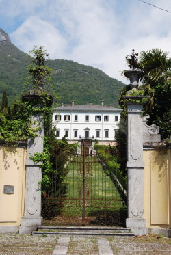 In Bolvedro inlet, Tremezzo, stands the eighteenth-century Villa la Carlia. The spectacular staircase with cypress trees that leads to the building from the lake's shores, is worth a moment's attention. photo by: www.panoramio.com