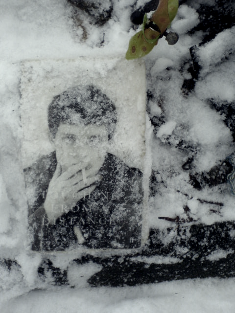 At the Ian Curtis memorial. Frozen in time.