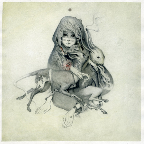 Beggar by Joao Ruas, graphite and watercolour on paper, 20x20cm, 2009 I missed his bloody signing at Orbital because I'm a massive idiot. Gah.