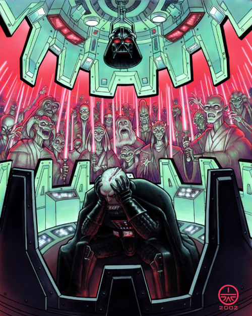 "Star Wars Zombie Art! - ""Vader's Dream""  (unknownskywalker)"