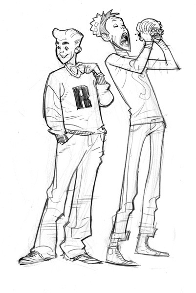 love-and-radiation:  Stuart Immonen's Archie and Jughead.  Apparently, Jughead is getting revamped. If Stuart Immonen were to be involved, I'd fully support it. Can't say I'm optimistic. Follow the adventures of Stuart and Kathryn at Maison Immonen!