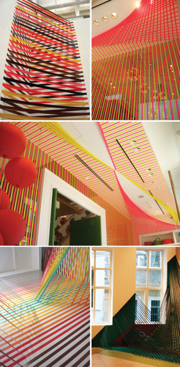 Rebecca Ward's tape installations