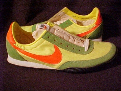 Nike Vainqueur. The pair of spikes I always wanted but never had. Still my fave colourway. Just as Nike is the Greek godess of victory - so 'vainqueur' is french of victory.