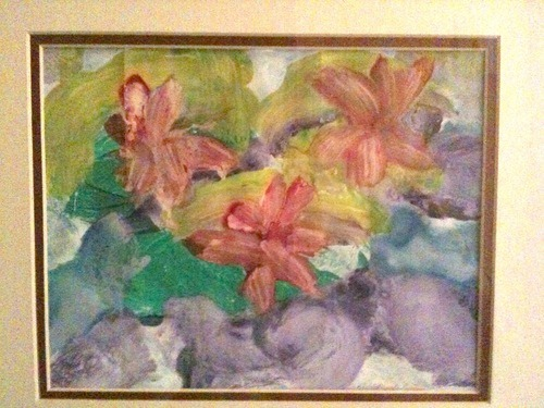 """Water Lilies""Artist: BriannaT, age 8. Posted by: SaraT (unregistered).She was learning about Impressionism in art class."