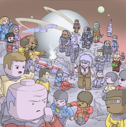 "ohmygil:  legoexpress:  Ulises Farinas: ""Lego Star Trek"" (via thedailywhat)  Are there Star Trek Legos? CAN THERE BE STAR TREK LEGOS?!"