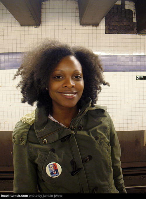 Naimah, writer, on the Lower East Side.