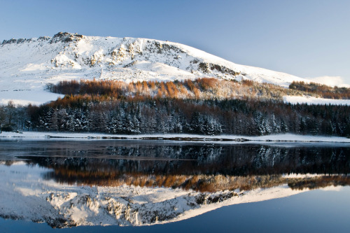 45/365 Dovestones Reflections I went for a walk in the snow with my camera. The light was amazing. I spotted this reflection.