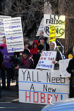 014- Anti-Gay Marriage Ammendment Protest (via Violentz)