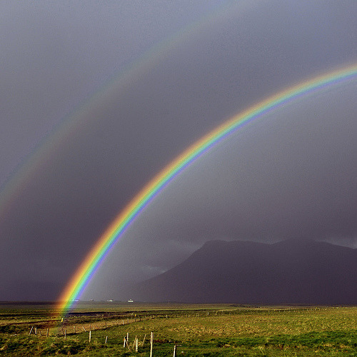 Icelandic Rainbow by Eirasinn Apparently the rainbows in Iceland happen much more often then elsewhere and they can be especially vivid. By request of rebloghaven!Have a location you would like covered? Request It
