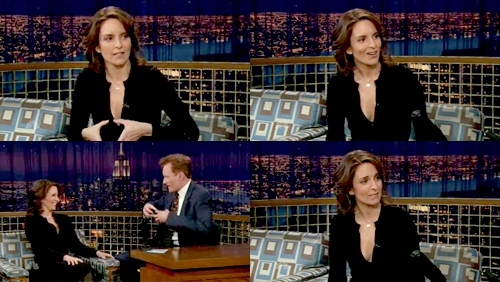 "giselebock:tvquotes:cheia:cyborglovesong: Tina Fey: The other thing I love about Tracy is in our show, he wears a lot of fake, giant bling. But in real life, he wears some really great giant, real bling. He has this necklace that's, like, the size of a child's shoe. It's all diamonds and it says ""Number One Dad"".Conan O'Brien: Wait. It says ""Number One Dad"" and it's covered in diamonds? Tina Fey: All diamonds, it says ""Number One Dad"". And I'm always like ""Really? Did your kids buy you that?"""