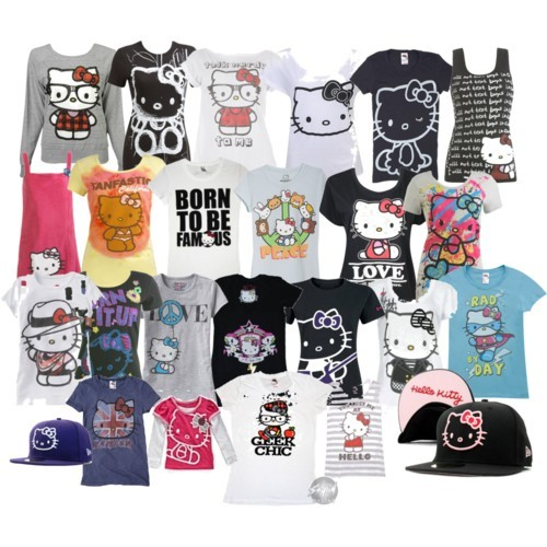 Hello Kitty Clothing Collage  Made by welovehk